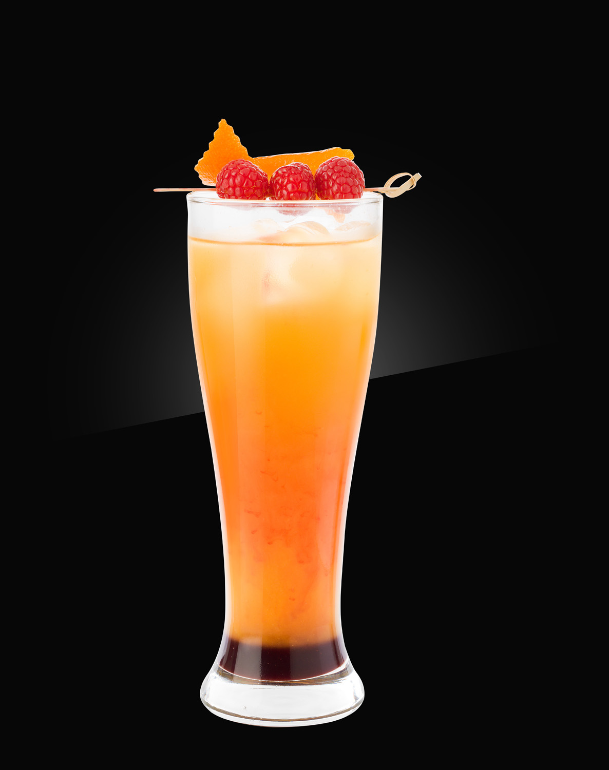 HERB non alcoholic Mocktail raspberry-beer-sunrise